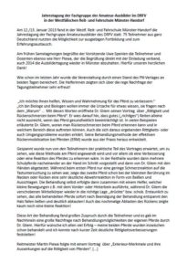 Jahrestagung der Fachgrupppe Amateur Ausbilder Münster